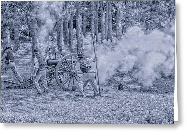 Union Cannon Civil War Toned Greeting Card by Randy Steele