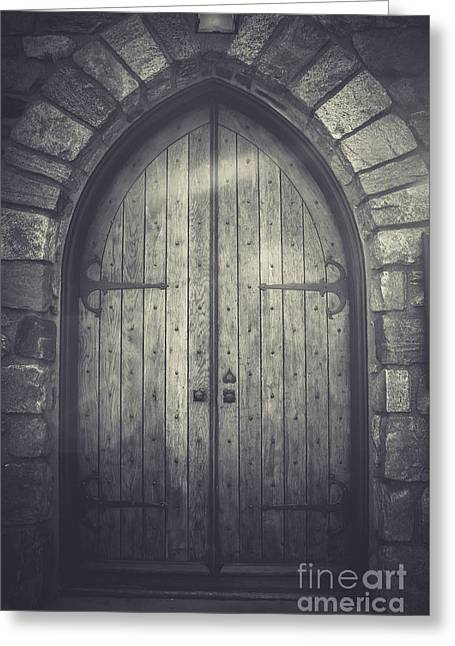Union Church Doors Greeting Card by Colleen Kammerer
