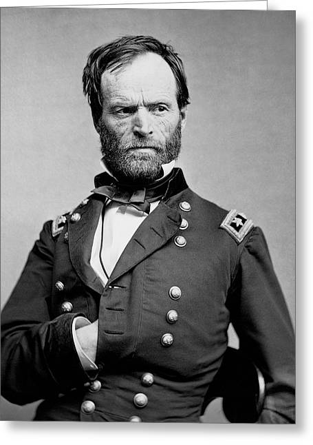 Union General William Tecumseh Sherman 1865 Greeting Card