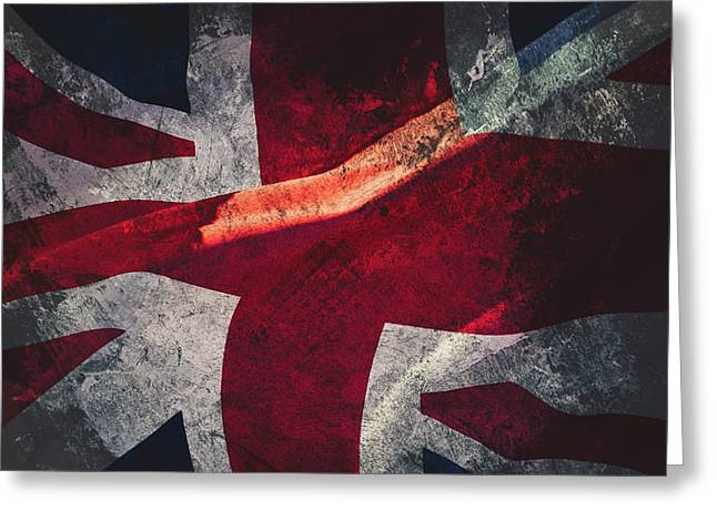 Union Jack Fine Art, Abstract Vision Of Great Britain Flag Greeting Card