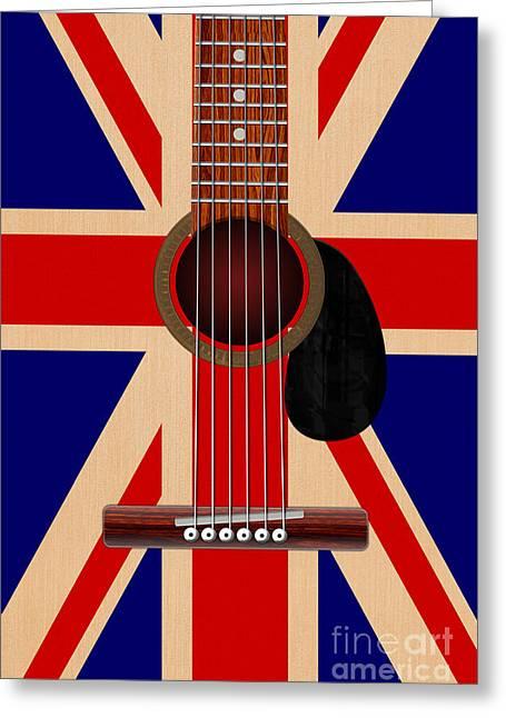 Union Jack Guitar Greeting Card
