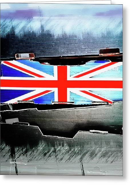 Union Jack Illustration Greeting Card by Tom Gowanlock