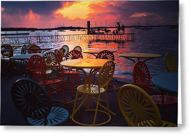 Union July Sunset Greeting Card