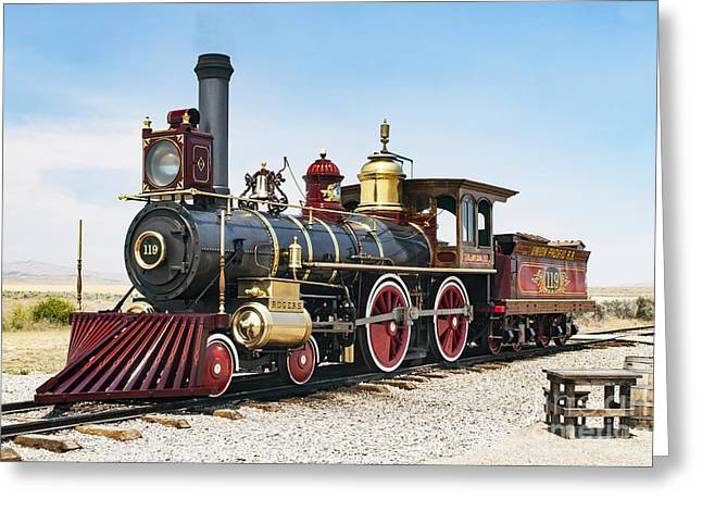 Union Pacific 119 Greeting Card
