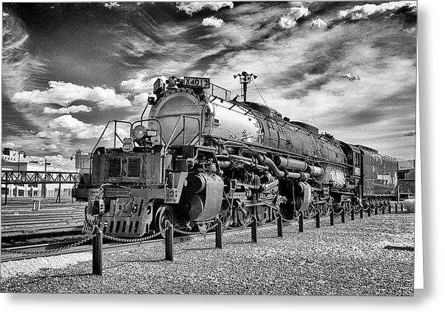 Greeting Card featuring the photograph Union Pacific 4-8-8-4 Big Boy by Paul W Faust - Impressions of Light