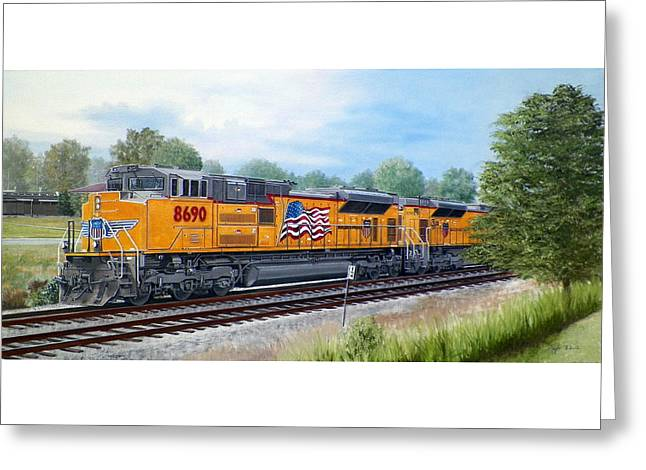 Union Pacific 8690 Greeting Card by RB McGrath