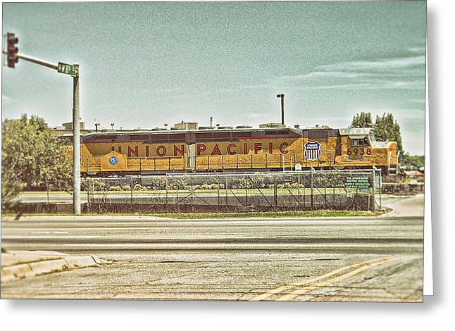Union Pacific Greeting Card by Kyzer Kane