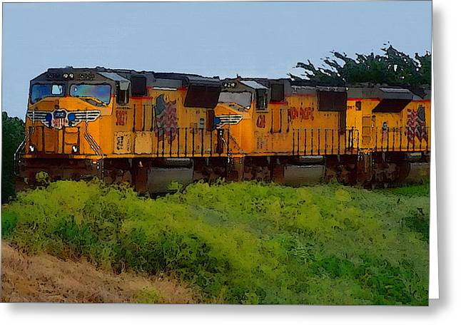 Union Pacific Line Greeting Card