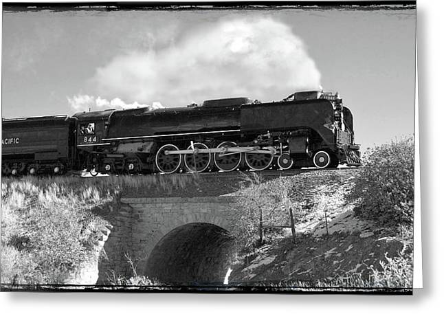 Union Pacific Greeting Cards - Union Pacific Number 844 Greeting Card by Larry McManus