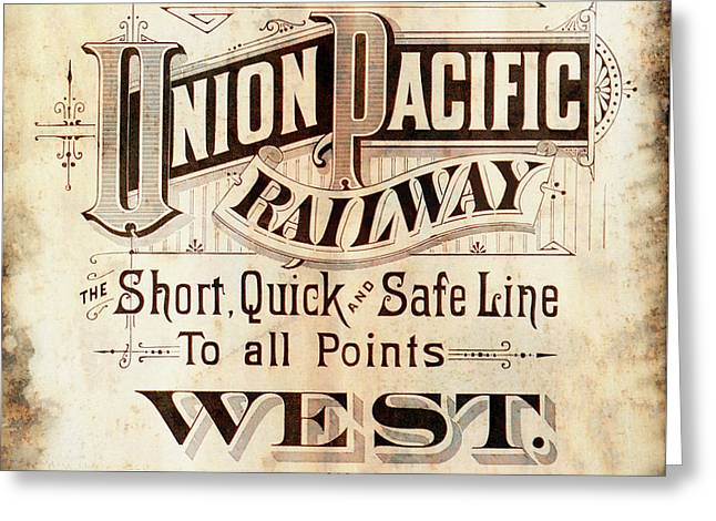 Union Pacific Railroad - Gateway To The West  1883 Greeting Card