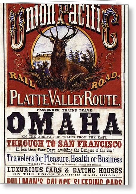 Union Pacific Railroad Opens The West - May 10, 1869 Greeting Card