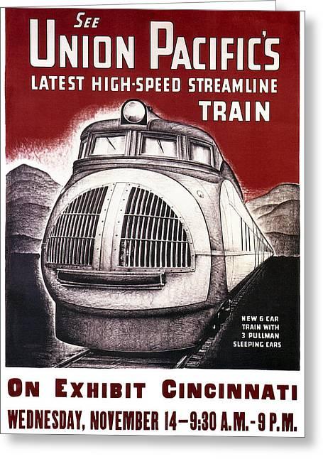 Union Pacific Record-breaking Streamline Train 1934 Greeting Card