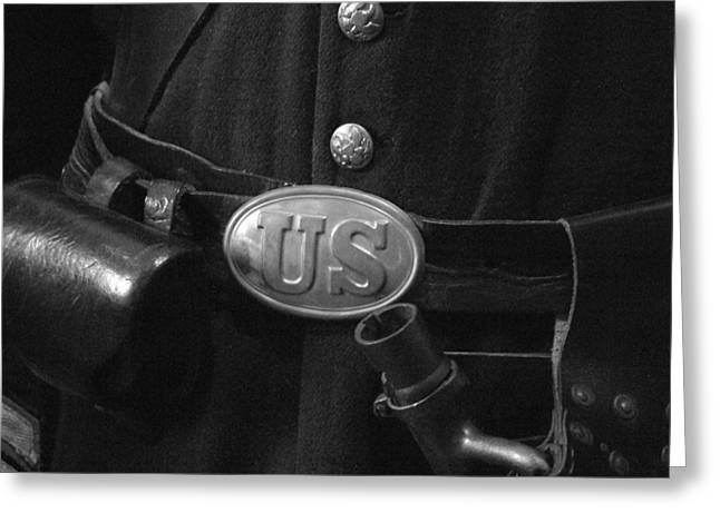 Union Soldier Greeting Card by Michael L Kimble