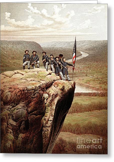 Union Soldiers On Lookout Mountain, Tennessee Greeting Card by James Fuller Queen
