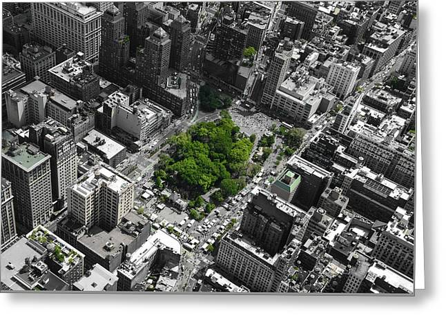 Greeting Card featuring the photograph Union Square Park by Rand