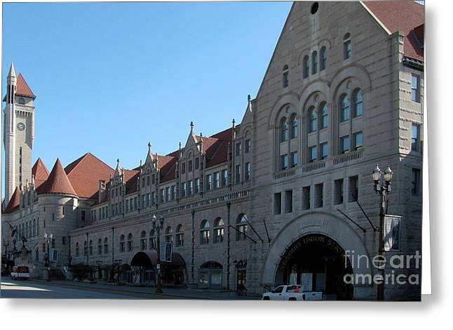 Alan Look Greeting Cards - Union Station Greeting Card by Alan Look