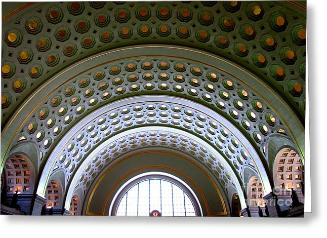 Union Station Ceiling 2 Greeting Card