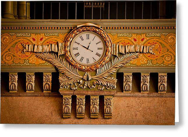 Union Station Clock Greeting Card