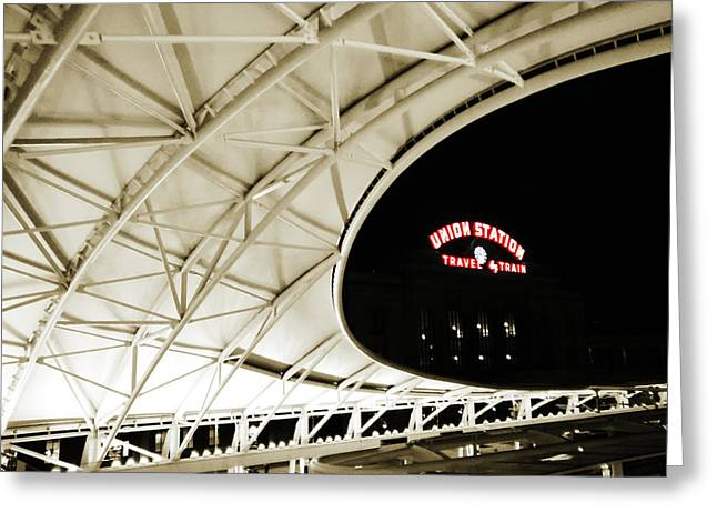 Greeting Card featuring the photograph Union Station Denver by Marilyn Hunt