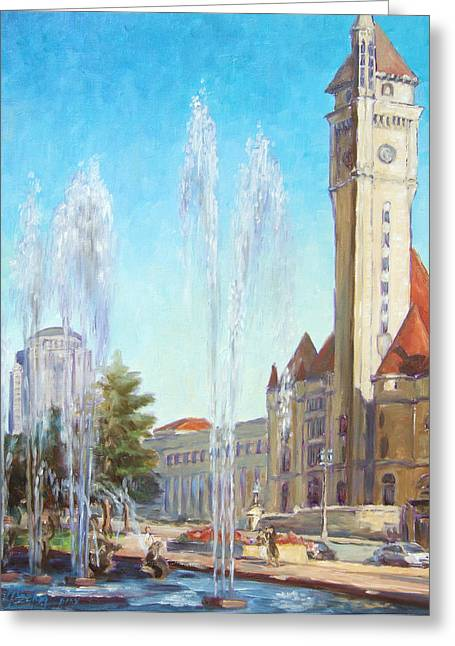 Union Station In St.louis Greeting Card