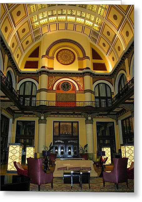 Union Station Lobby Greeting Card by Kristin Elmquist