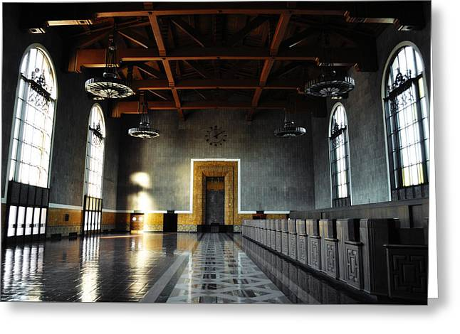 Greeting Card featuring the photograph Union Station Los Angeles by Kyle Hanson