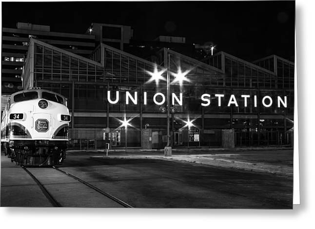 Union Station Night Glow Greeting Card