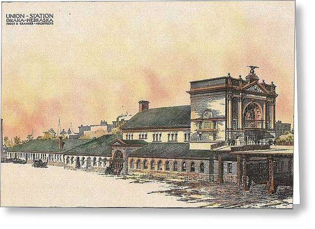 Union Station Omaha Nebraska 1899 Greeting Card by Frost and Granger