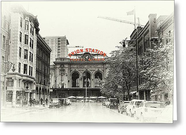Greeting Card featuring the photograph Union Station  by Susan Rissi Tregoning