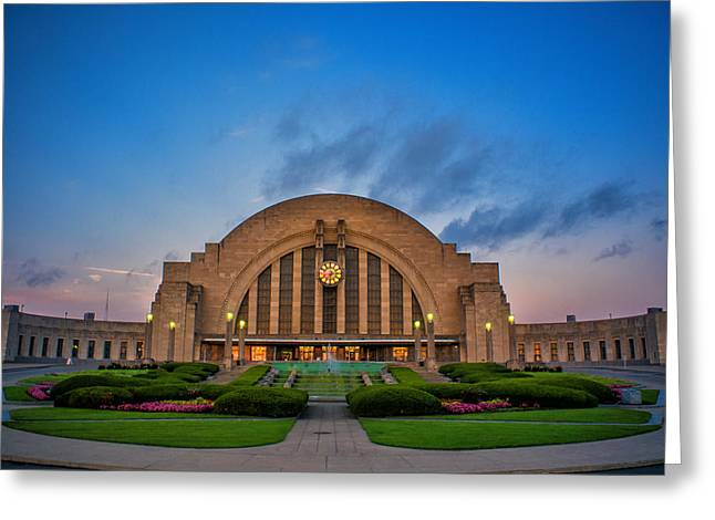 Union Terminal At Dawn Greeting Card