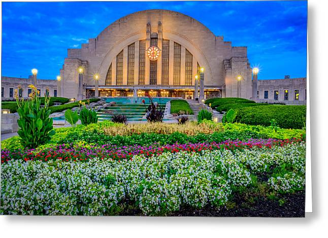Union Terminal At Sunrise Greeting Card by Keith Allen