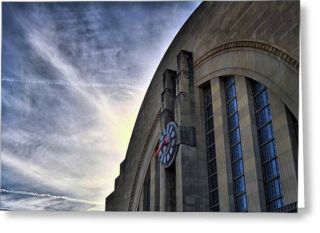 Union Terminal Greeting Card by Russell Todd
