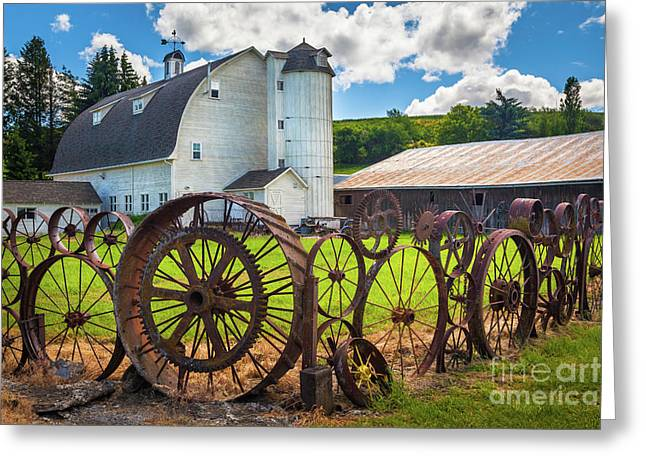 Uniontown Wagon Wheel Fence  Greeting Card