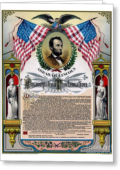 Unique Abe Lincoln Emancipation Proclamation Greeting Card
