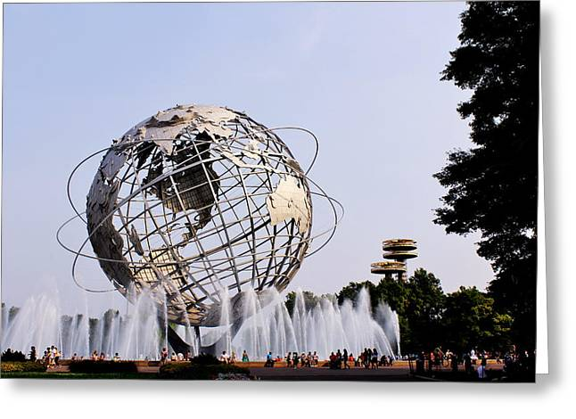 Unisphere Fountain Greeting Card