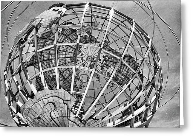 Unisphere In Black And White Greeting Card