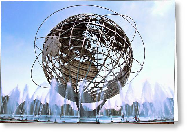 Unisphere With Fountains Greeting Card