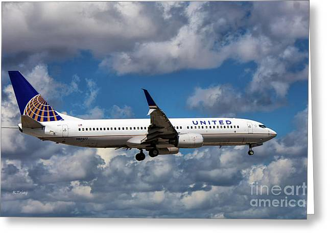 United Airlines Boeing 737 Ng Greeting Card