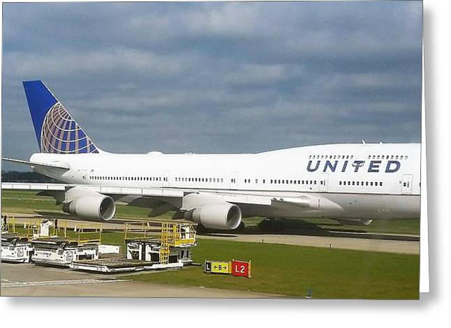 United Airlines Boeing 747-400 Greeting Card