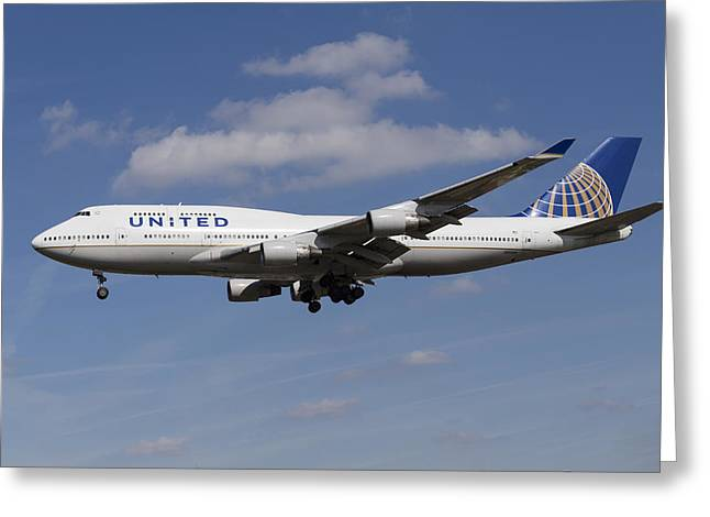 United Airlines Boeing 747 Greeting Card