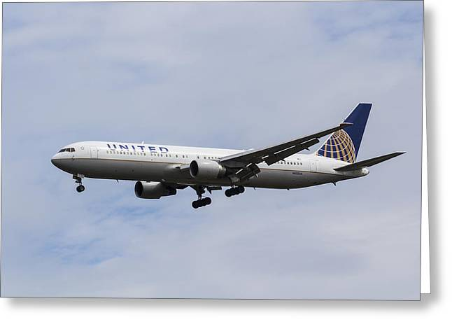 United Airlines Boeing 767 Greeting Card