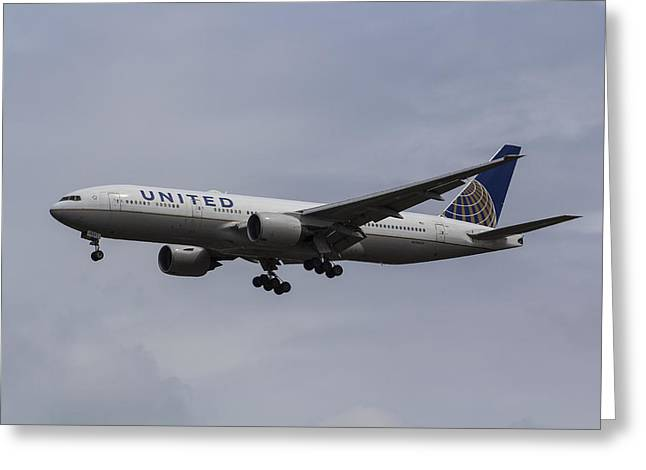 United Airlines Boeing 777 Greeting Card
