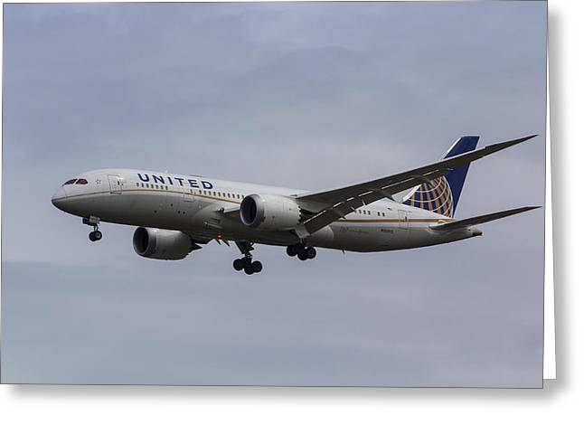 United Airlines Boeing 787 Greeting Card