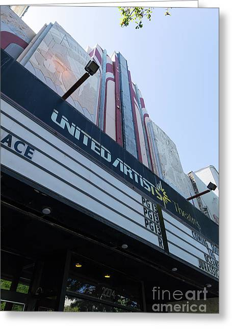 United Artists Berkeley 7 Movie Theater At University Of California Berkeley Dsc6316 Greeting Card