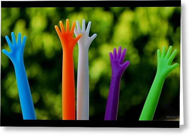 Greeting Card featuring the photograph United  Colours by Marija Djedovic
