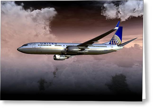 United Continental 737 Ng 01 Greeting Card