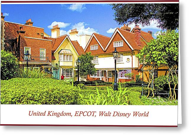 United Kingdom Buildings, Epcot, Walt Disney World Greeting Card