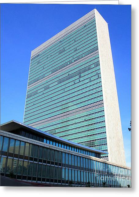 Greeting Card featuring the photograph United Nations 1 by Randall Weidner