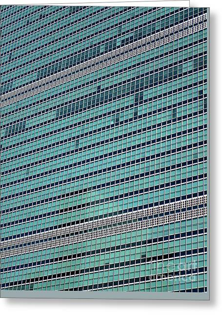 Greeting Card featuring the photograph United Nations 2 by Randall Weidner