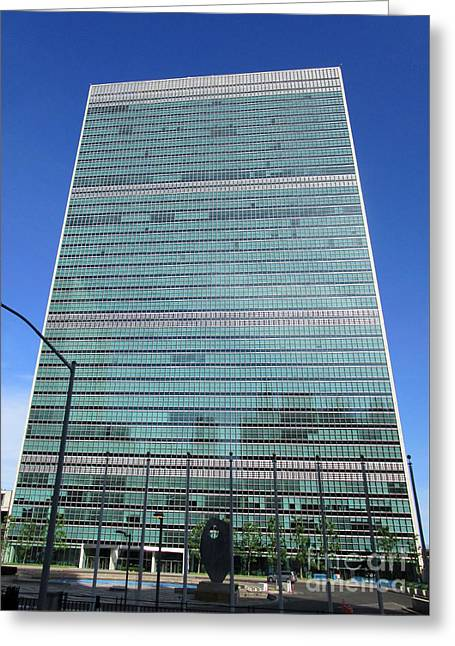 Greeting Card featuring the photograph United Nations 3 by Randall Weidner